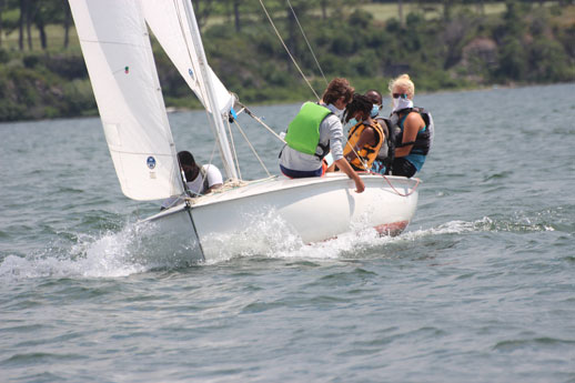 adult learning to sail